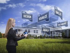 Arhitekt vaatamas visualiseeringut iPad-s protsessi etappidest
