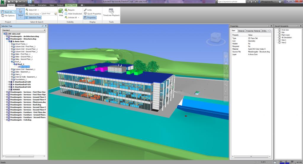 Mudel Navisworks Freedom tarkvaras vaatamiseks